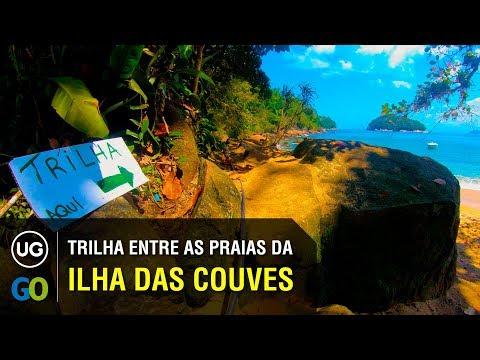 Trilha entre as Praias da Ilha das Couves - Ambos sentidos: Praia de Terra x Praia de Fora