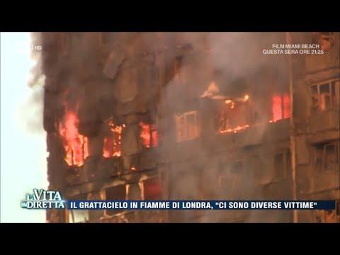 Londra, le urla e l'incubo nelle fiamme del grattacielo - La Vita in Diretta 14/06/2017