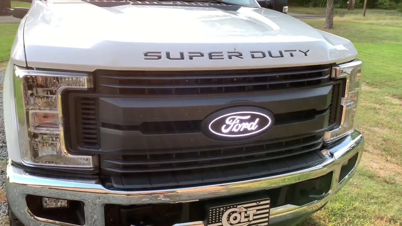 2018 Ford F250 F350 Super Duty HOOD GRILLE Letters Insert Decals Stickers Inlays
