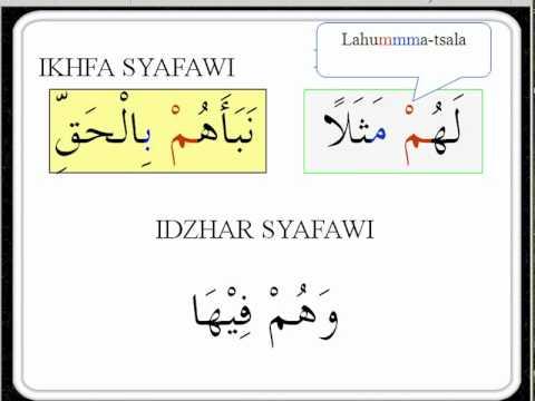Tajwid, Contoh Hukum Mim Mati    www.arirkm.com / arirkm@gmail.com