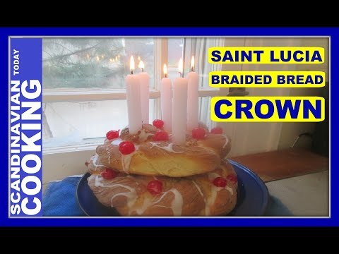 How To Make St. Lucia Braided Bread Crown ✨ Swedish holiday Saint Lucia Day