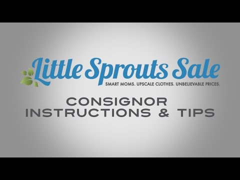 Tagging Instructions — Little Sprouts Sale
