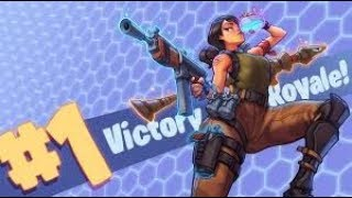 Fortnite Battle Royale squad game at (7:00 am) new victory skin!!