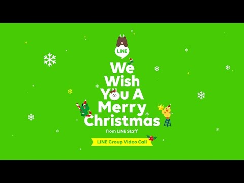Merry Christmas 2016 from LINE Staffs with Group VIdeo Call