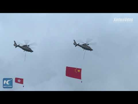 Flag raising ceremony celebrates National Day in Beijing, Hong Kong, Tibet