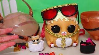 Brinquedonovelinhas Abrindo Bola Gigante de LOL Pets Mc Hammy