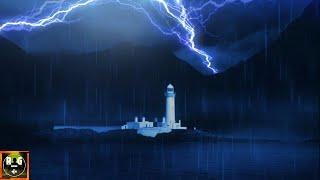 Loud Thunderstorm Sounds   Heavy Thunder, Lightning Strikes & Light Rain to Sleep, Study, Relax