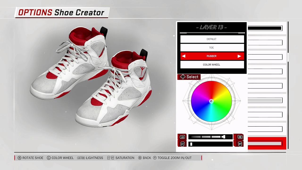 NBA 2K18 Shoe Creator - Air Jordan 7