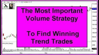 Volume Trading Strategy for Trend Trades