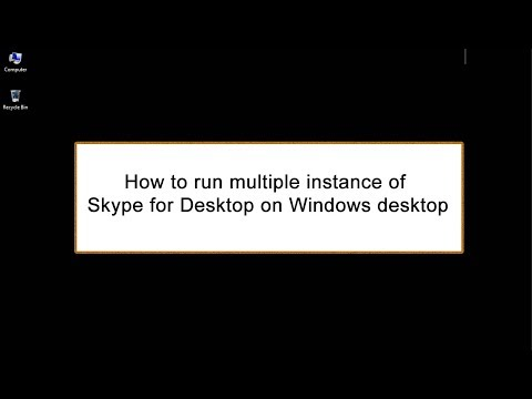 How to use two Skype Accounts at the same time in one computer