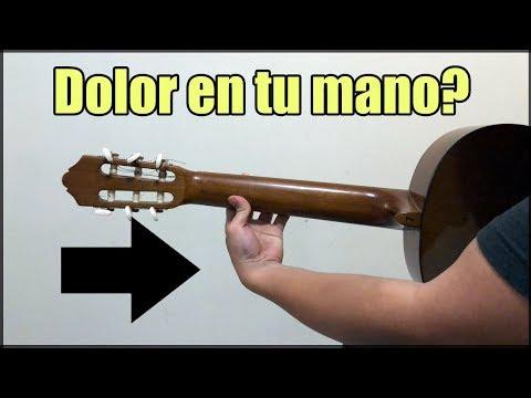 Sientes dolor en los dedos o mano cuando tocas guitarra?