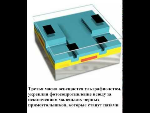 Изготовление интегрального транзистора на подложке