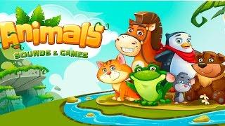 Animals: Sounds & Games/Учим Звуки Животных.Веселые Животные на Английском.Обучающий Мультик Игра