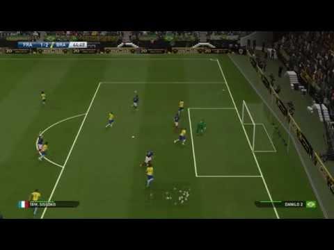 Pro Evolution Soccer 2016 Demo PS4, Super Star level, France - Brazil 4-2