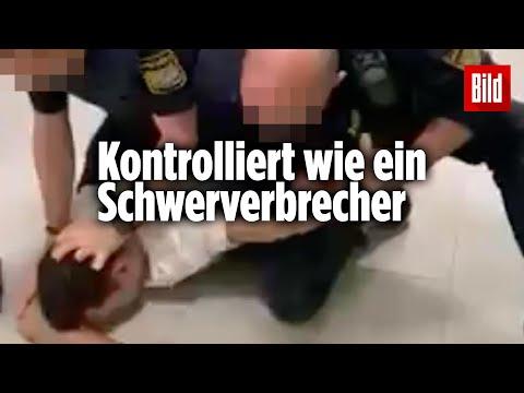 Corona-Kontrolle der Polizei in München eskaliert | Handy-Video veröffentlicht
