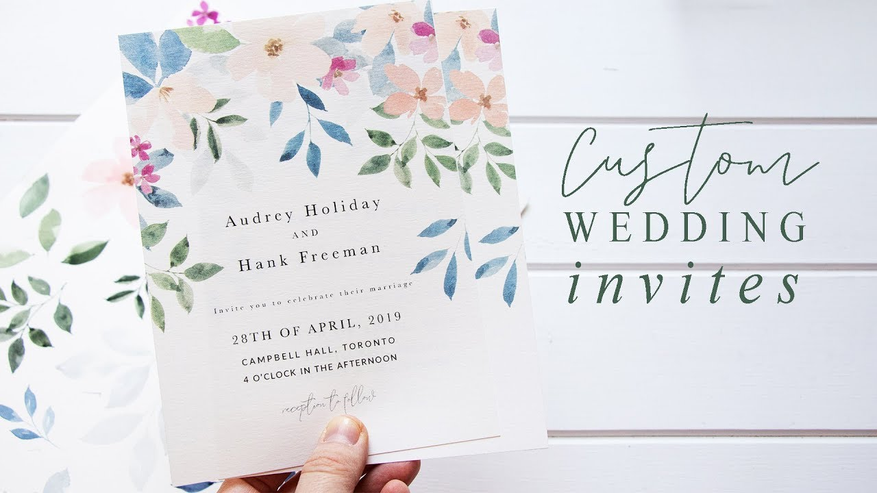 Wedding Invites Using Watercolor Art