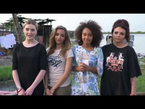 Little Mix visit slum communities in Liberia for Sport Relief