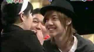 kim hyun joong with a SHOCKED fan girl!