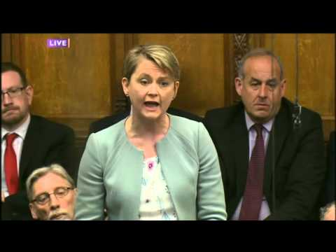 Yvette Cooper stands up for abused child refugees at PMQs