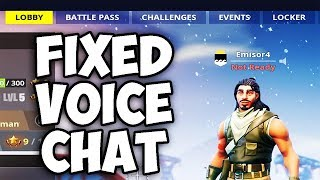 Fix: Fortnite Voice Chat not working