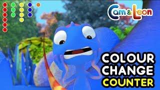 Cam & Leon | COLOUR CHANGE COUNTER | Funny Cartoon | Cartoon for Kids