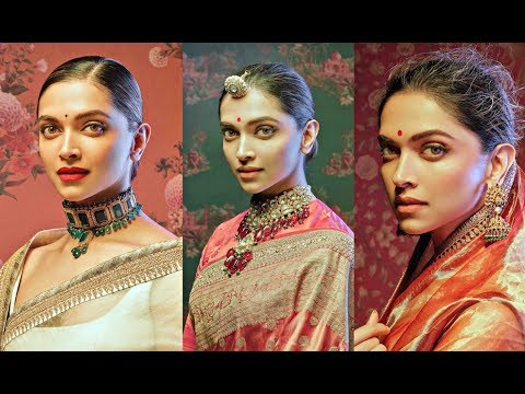 Deepika Padukone Hot Photoshoot For Sabyasachi Saree