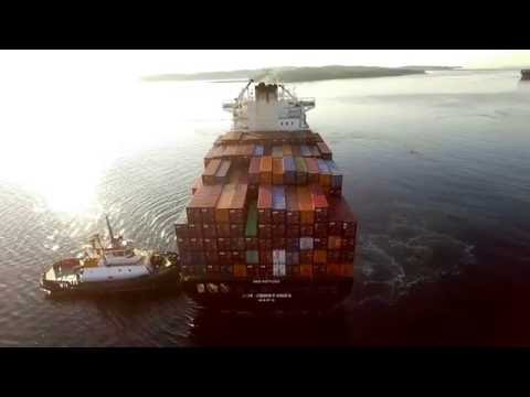 DJI Phantom 3 Aerial Video - ZIM CONSTANZA Inbound into Port of Halifax (July 13, 2016)