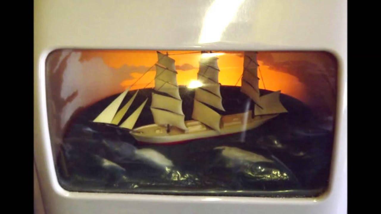 Rare Vintage Grey Vitascope Rocking Ship Clock