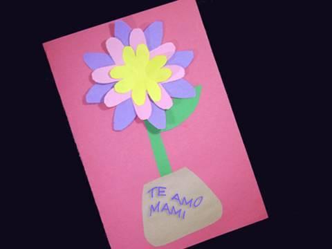 Manualidades faciles de papel: Tarjeta Primaveral para regalar ...