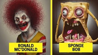 REALISTIC Cartoon Characters That Are the Stuff NIGHTMARES Are Made Of