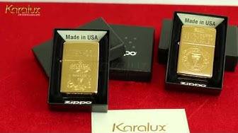 Zippo Mỹ chính hãng mạ vàng 24K, Giá bán Zippo USA tại Hà Nội, Tp HCM