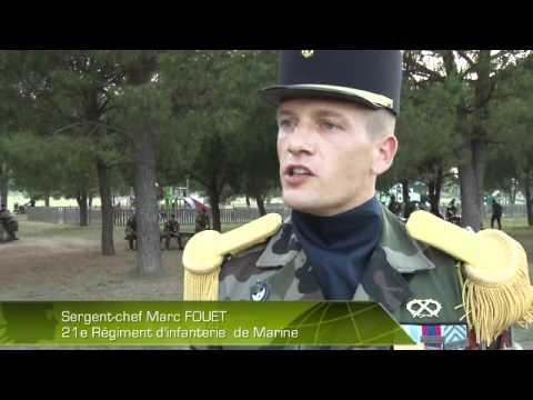 Les troupes de marine commémorent Bazeilles à Fréjus