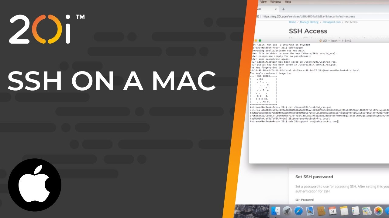 How to connect via SSH on an Apple Mac