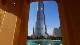 DUBAI BURJ KHALIFA 160 floors INSIDE VIEW 1st time