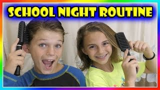 OUR SCHOOL NIGHT ROUTINE 2016 | We Are The Davises