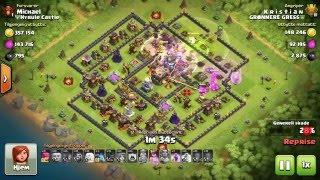 3star Kristian vs Michael. Hero/healer/valk.PvP. Clash of Clans. Grønnere Gress