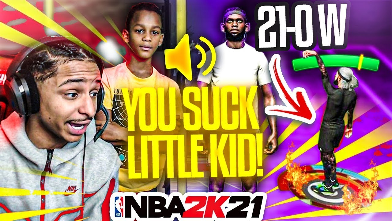 I Helped My 12 Year Old Brother Destroy a TOXIC BULLY on NBA 2K21