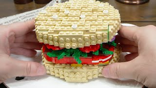 Lego Hamburgers ( feat. Lego shoes ) - Lego In Real Life 4 / Stop Motion Cooking & ASMR