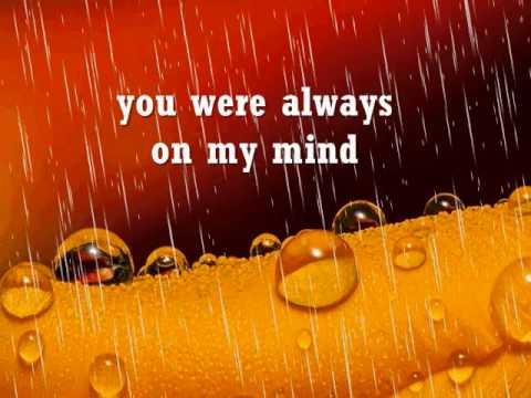 ALWAYS ON MY MIND - Willie Nelson (Lyrics)