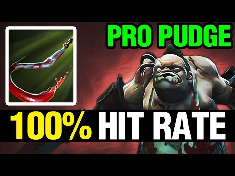 100% HIT RATE - PRO PUDGE - Dota 2