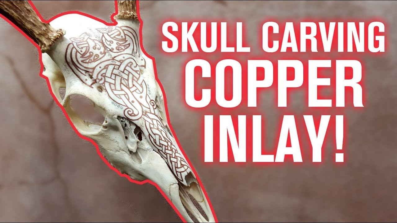 Copper Inlay Tutorial For Skull Carving Youtube