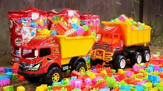 Dump Truck Transport  Building Blocks Toys | Construction Vehicles Dump Truck
