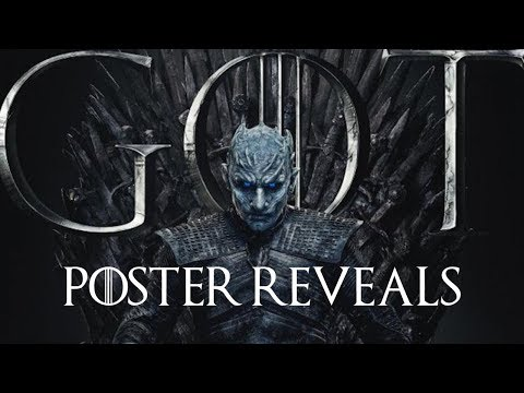 Game Of Thrones Season 8 - Character Posters REVEAL!!! | Iron Throne Posters