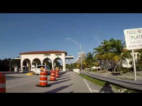 GoPro Biking Eastbound and Down the Venetian Causeway  - July 2016 Miami Beach, FL
