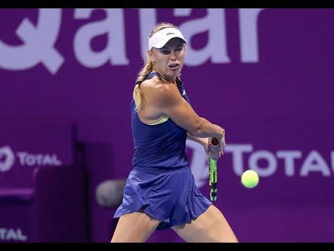 2018 Qatar Total Open Second Round | Caroline Wozniacki vs. Carina Witthoeft | WTA Highlights