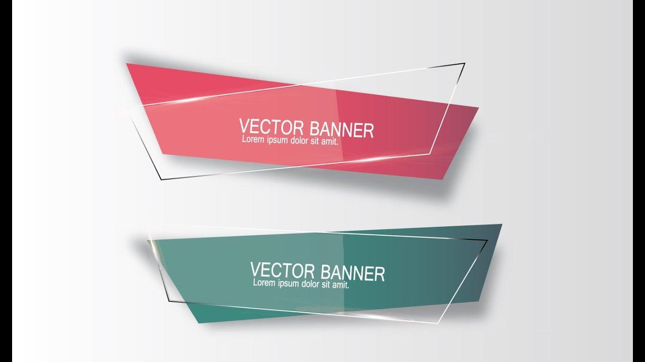 illustrator tutorial  graphic design  vector banner  youtube