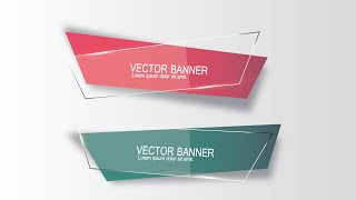 Illustrator Tutorial | Graphic Design | Vector Banner
