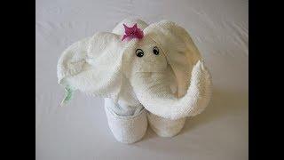 Easy way to make Elephant using Towel | Wedding Tray Decoration | বিয়ের তত্ত্ব সাজানো