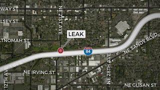 Leaking pipe in Northeast Portland releases sewage