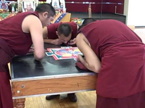 Buddhist Mandala Sand Painting Ceremony